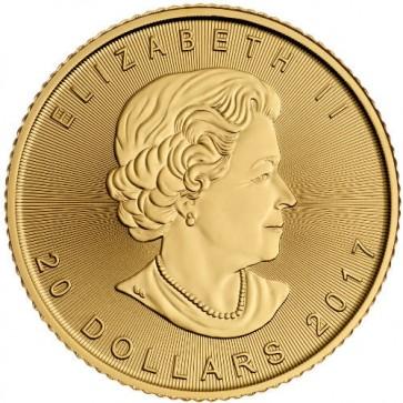 2017 Canadian Gold Maple Leaf 1/2 oz Front