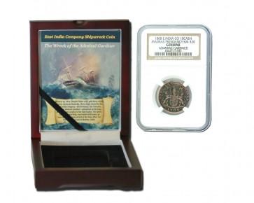 Admiral Gardner (1808) Shipwreck Treasure 10 Cash NGC Wood Box (Medium grade)