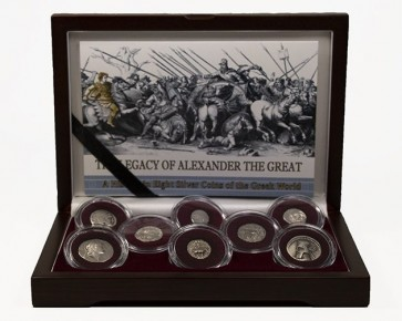 The Legacy of Alexander the Great:-A History in 8 Silver Coins of the Greek World Box