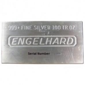 Engelhard 100 OZ Silver Bar .999 Fine