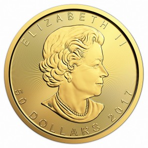 2017 Canadian Gold Maple Leaf 1 oz Front