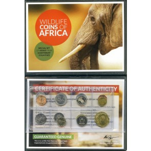 Wildlife Coins Of Africa Album: Legal Tender of 15 Different African Nations (U)