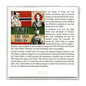 World War II: The Axis Powers 4 Coin Collection in Mini Album (C)