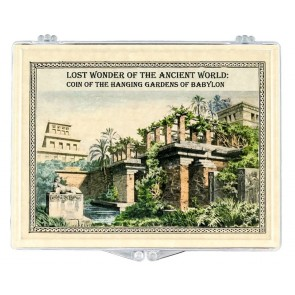 Lost Wonder of the Ancient World Clear Box-Coin of the Hanging Gardens of Babylon