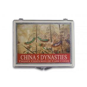 China 5 Dynasties: Twenty Centuries of Cash Coins Clear Box