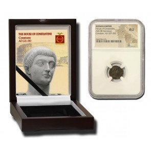 Roman AE of Constans (AD 221-350) NGC Wood Box (AU)