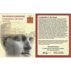 Roman AE of  Constantine I, the Great (AD 272-337) NGC-London Mint Wood Box (VF)