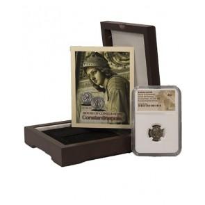 Roman AE of Constantinopolis (AD 330-346) NGC Wood Box (AU)