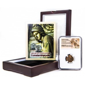 Roman AE of Constantinopolis (AD 330-346) NGC Wood Box (XF)
