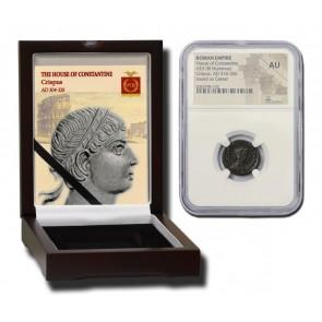 Roman AE of Crispus (AD 304-326) NGC  Wood Box (AU)