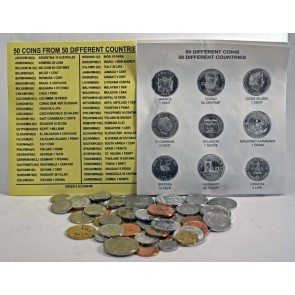 50 different coins from 50 countries (U)