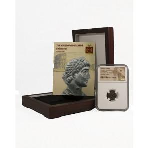 Roman AE of Delmatius (AD 335-337) NGC Wood Box (VF)