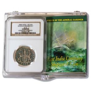 Admiral Gardner (1808) Shipwreck Treasure 10 Cash NGC Clear Box (Medium grade)