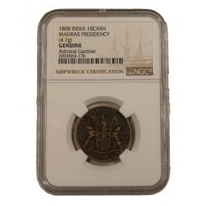 Admiral Gardner (1808) Shipwreck Treasure 10 Cash NGC (Low grade)