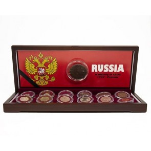 The History of Russia: Ivan the Terrible - Vladimir Putin. A Boxed Collection of 13 Coins.