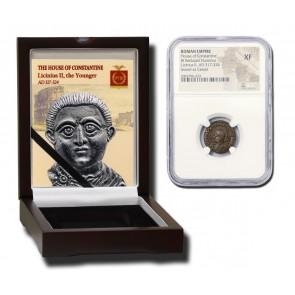 Roman AE of Licinius II (AD 317-324) NGC Wood Box (XF)