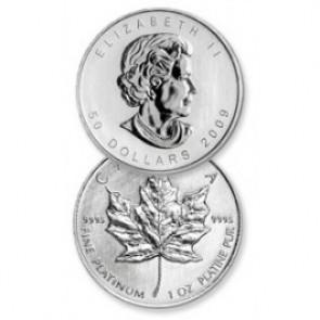 Canadian Platinum Maple Leaf 1 Troy oz