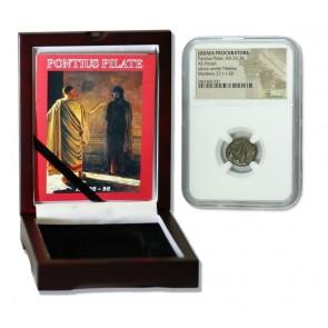 Judaea AE Pontius Pilate (AD 26-36) Prutah NGC Wood Box (Medium grade)