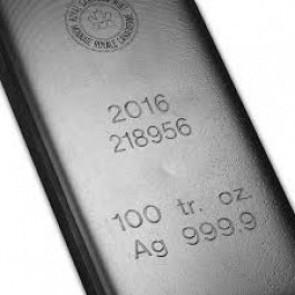 RCM 100 oz Silver Bar .9999 Fine