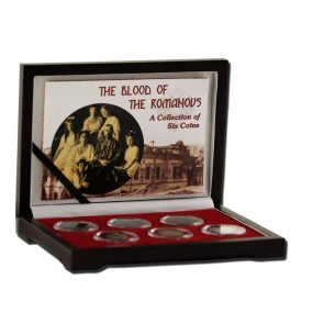 Blood of the Romanovs: Box of 6 of the Last Russian Coins Issued by the Romanov Dynasty