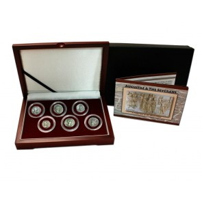 "Rome's ""Three Julias"" : Severan Dynasty Box of 6 Silver Coins"