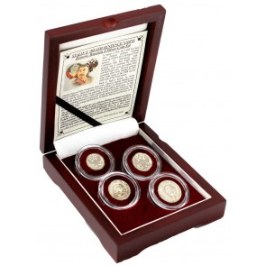 """Stalin's """"Death Sentence"""" Coins: Box of 4 Russian Silver Coins"""