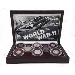 World War II: A Set of Eight Silver Coins